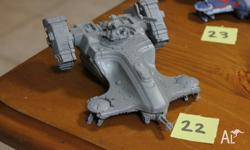 Tau Empire Devilfish Troop Carrier (unpainted). I also