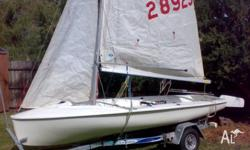 420 International Sailing Dinghy - Sail #28929, well