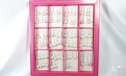 44 Pairs of Mix Fresh Water Pearls Earrings w/ 925