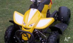 Brand New 49cc Yellow ATV-Quad Bike for kids, Fully