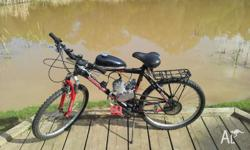 Hello i have a 49cc motorised pushbike up for sale it