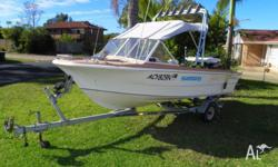 FOR SALE 4.1m Glascraft Fishing Boat Boeing Trailer