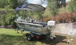 4.2 Meter Aluminium Stacer Seahawk with 30 HP Johnson