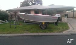 4.2 metre stacer seahorse with 30 hp mariner outboard