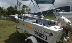 40Hp Honda, 4 Stroke, Cushions, Near New Canopy, Brand