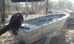 2009 stacer 4.2m with stacer trailer, approx 1yr old