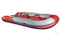 This alloy floor inflatable boat is brand new from a