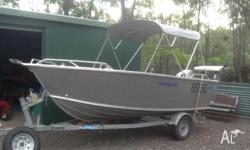 This 4.52m Stessco boat with 40 hP Tohatsu motor in