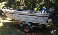 Selling my 4.5m broker tinnie with a 50hp Yamaha, -