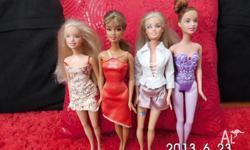 4 Barbie Dolls, very clean House non smoking or $5 each