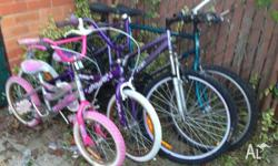 We are selling our old bikes, 1 male adults mountain