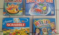4 Board Games, excellent condition, Guess What I Am -