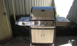 Stainless 4 burner BBQ with wok burner. sale includes
