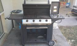 4 sale is my used 4 Burner BBQ with Hood, Side Burner