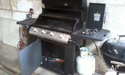 Good nick BBQ with hot plate one half and grill the