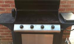 4 burner gas BBQ with Wok burner. Have been used