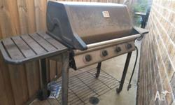 4 Burner Hooded BBQ. Used condition.Needs a good clean.