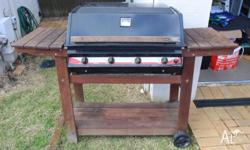 BBQ in working order, open grill and hot plate, 4