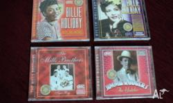4 CD's. brand new in package. 2 x Billie Holiday, 1 x