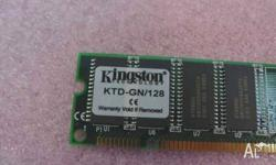 Kingston KTD-GN128 128MB EDO DIMM 168 Pin Memory 60ns