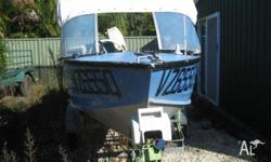 4 meter boat with 12 months rego includes trailer also