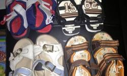 For sale is 4 pairs of boys sandals. 3 of them are used