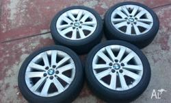 Hi, Selling a full set of 17 inch OEM BMW wheels and