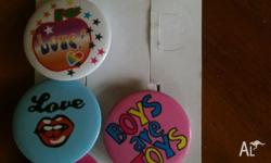 button badges - Brand New - Cost $9.99 from Equip