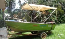 4m Stacer Tinnie 30hp Tohatsu Outboard Carpeted Full