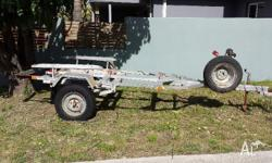Custom built 4WD trailer for 4m tinny with shocks and