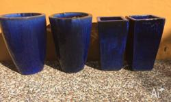 Obovate-style round and square Garden Pots finished in