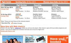 We have 4 return tickets to fly to Hamilton Island from