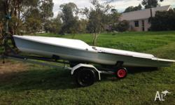 Must sell 505 dinghy number 8036 Fibreglass hull with
