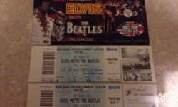 2 tickets to see ELVIS meets the BEATLES concert at