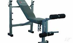 Great value weight set and heavy duty bench press. Set