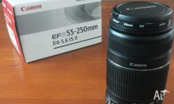 Used, but in perfect condition. 55-250mm EF-S 1:4-5.6