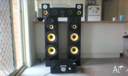 5.1 eklipsch sound systems works fine is in good