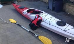 Single person sea kayak. Barely used and in excellent