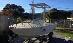5.2m aluminium boat centre console and galvanised boat