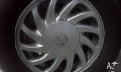 5 Alloys.Plenty of tread.Great for Rego.$160