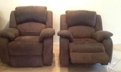 3 Seater Lounge with 2 Recliners plus 2 Single