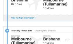 Reluctantly selling flights departing Brisbane to