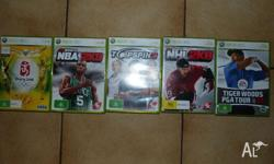 Selling 5 XBOX 360 games (all working) BEIJING 2008 NBA