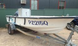 5m Wahoo fibre glass boat, 50 Yamaha, all safety