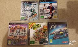 Up for sale are 5x PS3 games: Fifa 2013 - $25 SSX -