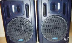 "Pair of near new 12"" two way Passive speakers Model:"