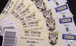 Quick Sale - 6 x Bulldogs v Eels General Admission