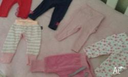 6 x 000 pants only dark pink and blue were worn great