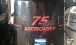 2003 75hp Mercury Long shaft Oil injected Comes with