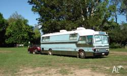 78 Hino coach 40 ft m/home, rear mount V6-53 GM motor &